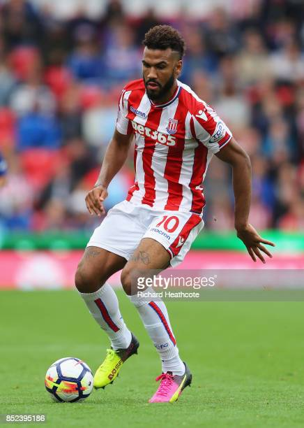 Maxim ChoupoMoting of Stoke City in action during the Premier League match between Stoke City and Chelsea at Bet365 Stadium on September 23 2017 in...