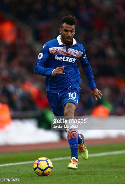 Maxim ChoupoMoting of Stoke in action during the Premier League match between Southampton and Stoke City at St Mary's Stadium on March 3 2018 in...