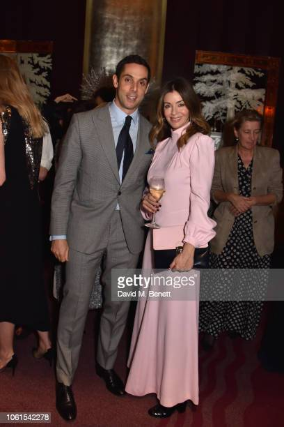 Maxim Crewe and Sara MacDonald attend a VIP dinner hosted by Tom and Alice NaylorLeyland to celebrate the arrival of 'Malton In Mayfair' at...