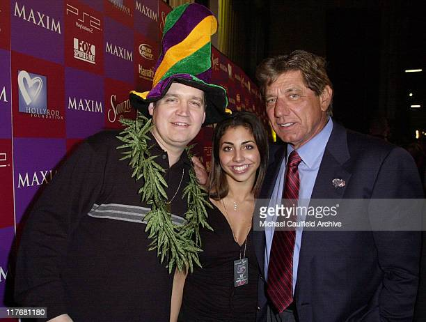 Maxim editorinchief Keith Blanchard Jessica Namath and Joe Namath