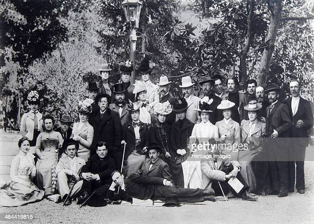 Maxim Gorky and Anton Chekhov with actors of the Moscow Art Theatre Russia 1900 Russian author Maxim Gorky was one of the pioneers of socialist...