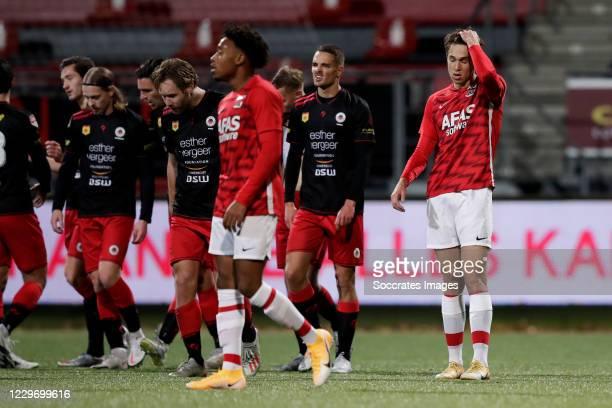 Maxim Gullit of AZ Alkmaar U23 disappointed about 2-0 during the Dutch Keuken Kampioen Divisie match between Excelsior v AZ Alkmaar U23 at the Van...