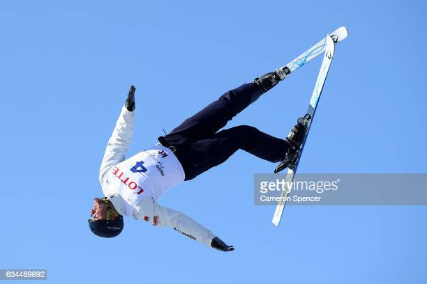 Maxim Gustik of Belarus performs an aerial during qualification in the FIS Freestyle Ski World Cup 2016/17 Mens Aerials at Bokwang Snow Park on...