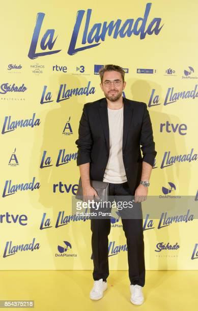 Maxim Huerta attends the 'La Llamada' premiere at Capitol cinema on September 26 2017 in Madrid Spain