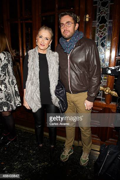 Maxim Huertas and Cristina Cifuentes attend Miguel de Molina al Desnudo premiere at the Santa Isabel Theater on November 4 2014 in Madrid Spain