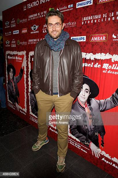 Maxim Huertas attends Miguel de Molina al Desnudo premiere at the Santa Isabel Theater on November 4 2014 in Madrid Spain