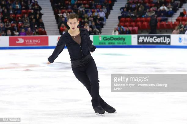 Maxim Kovtun of Russia performs during the Mens Short program on Day 1 of the ISU Grand Prix of Figure Skating at Herb Brooks Arena on November 24...