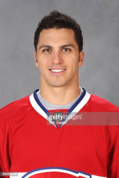 Maxim Lapierre of the Montreal Canadiens poses for his official headshot for the 20082009 NHL season