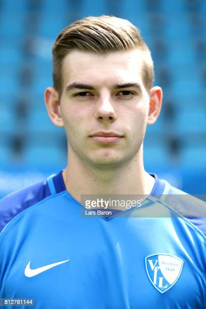 Maxim Leitsch of VfL Bochum poses during the team presentation at Vonovia Ruhrstadion on July 11 2017 in Bochum Germany