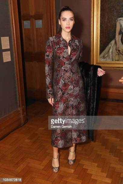 Maxim Magnus attends the ERDEM show during London Fashion Week September 2018 at the National Portrait Gallery on September 17 2018 in London England