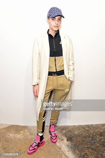 Maxim Magnus attends the Gurls Talk x Barbie event hosted by Adwoa Aboah celebrating their collaboration at Dover Street Market on March 06 2019 in...