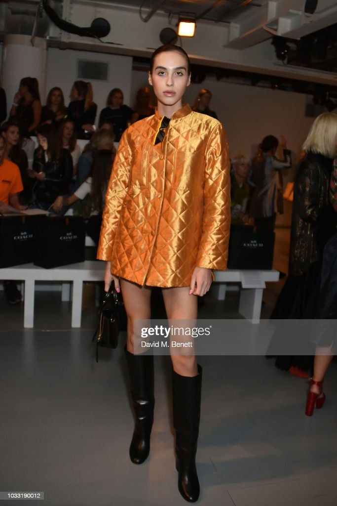 Maxim Magnus attends the Matty Bovan front row during London Fashion Week September 2018 at the BFC Show Space on September 14, 2018 in London, England.