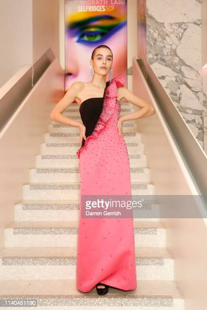 Maxim Magnus attends the Pat McGrath 'A Technicolour Odyssey' Campaign launch party at Brasserie of Light Selfridges on April 04 2019 in London...