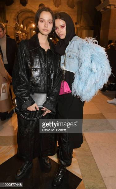 Maxim Magnus, Rainey Qualley, Billy Porter, Sam Ratelle, Bea Fresson, Mary Charteris, Josephine de La Baume and Amber Anderson attend the Halpern...