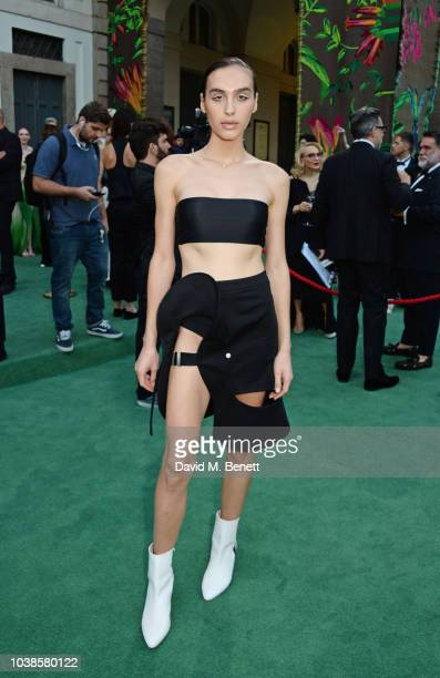Maxim Magnus, wearing Zilver, attends The Green Carpet Fashion Awards Italia 2018 at Teatro Alla Scala on September 23, 2018 in Milan, Italy.