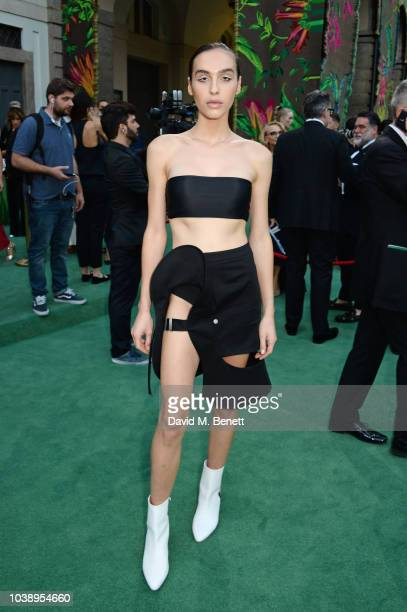Maxim Magnus wearing Zilver attends The Green Carpet Fashion Awards Italia 2018 at Teatro Alla Scala on September 23 2018 in Milan Italy