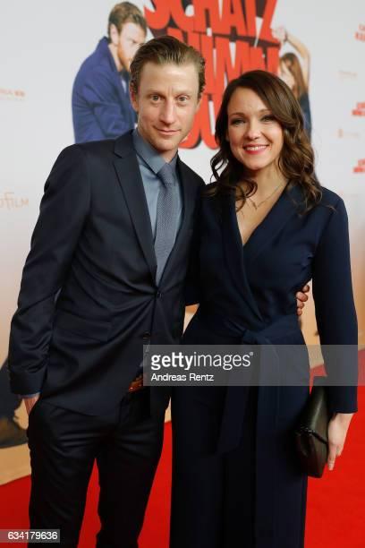 Maxim Mehmet and Carolin Kebekus attend 'Schatz Nimm Du sie' German movie premiere at Cineplex Cologne on February 7 2017 in Cologne Germany