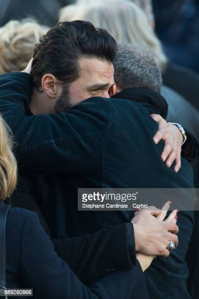 Maxim Nucci aka Yodelice during Johnny Hallyday's Funeral at Eglise De La Madeleine on December 9 2017 in Paris France France pays tribute to Johnny...
