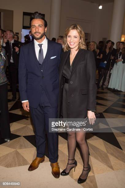 Maxim Nucci and Isabelle Ithurburu at Salle Pleyel on March 2 2018 in Paris France