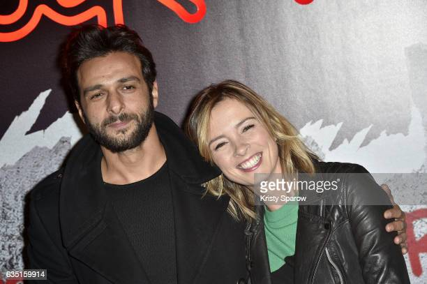 Maxim Nucci and Isabelle Ithurburu attend the 'Rock'N Roll' Premiere at Cinema Pathe Beaugrenelle on February 13 2017 in Paris France