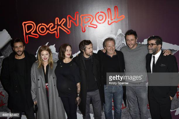 Maxim Nucci Marion Cotillard Camille Rowe Guillaume Canet Philippe Lefebvre another actor and Alain Attal attend the Rock'N Roll Premiere at Cinema...