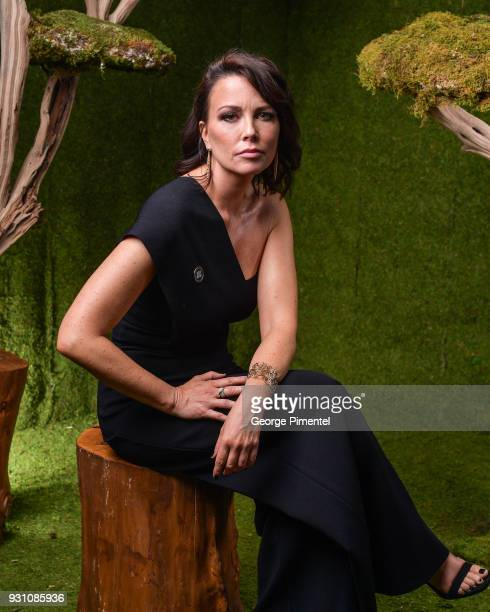 Maxim Roy poses in the 2018 Canadian Screen Awards Broadcast Gala Portrait Studio at Sony Centre for the Performing Arts on March 11 2018 in Toronto...