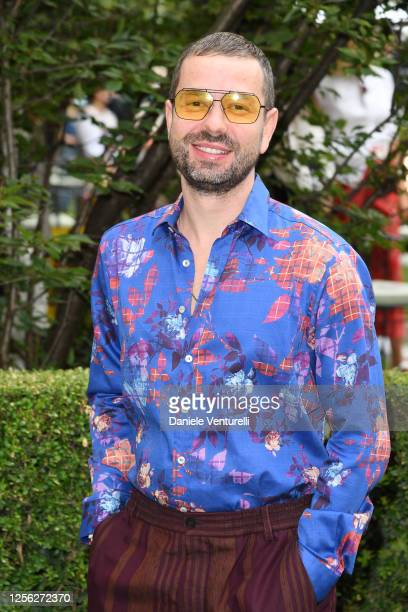 Maxim Sapozhnikov is seen on the front row at the Etro fashion show on July 15 2020 in Milan Italy