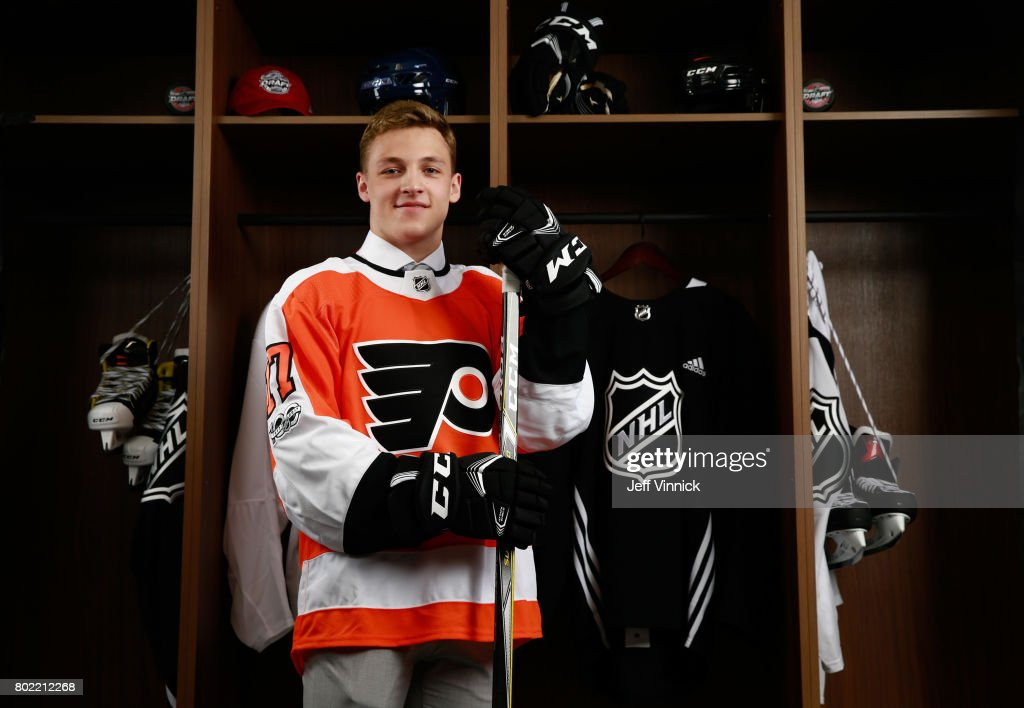 Maxim Sushko, 107th overall pick of the Philadelphia Flyers, poses for a portrait during the 2017 NHL Draft at United Center on June 24, 2017 in Chicago, Illinois.