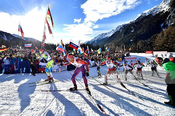 Maxim Tsvetkov of Russia takes 1st place during the IBU Biathlon World Cup Men's and Women's Relay on January 24 2016 in AntholzAnterselva Italy