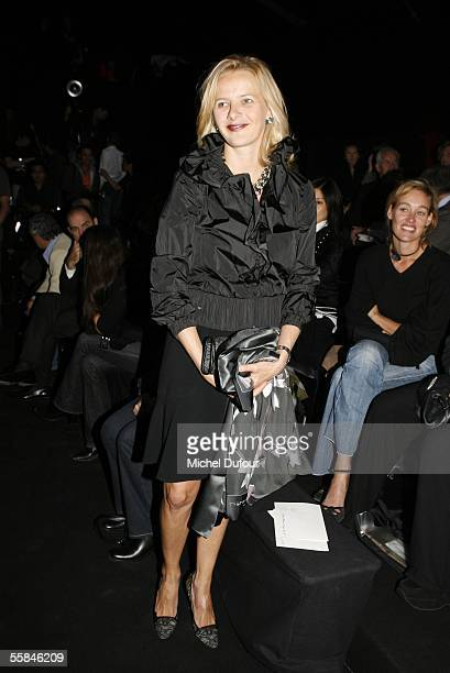 Maxima Princess of Orange is seen backstage at the Viktor Rolf show as part of Paris Fashion Week Spring/Summer 2006 on October 3 2005 in Paris France