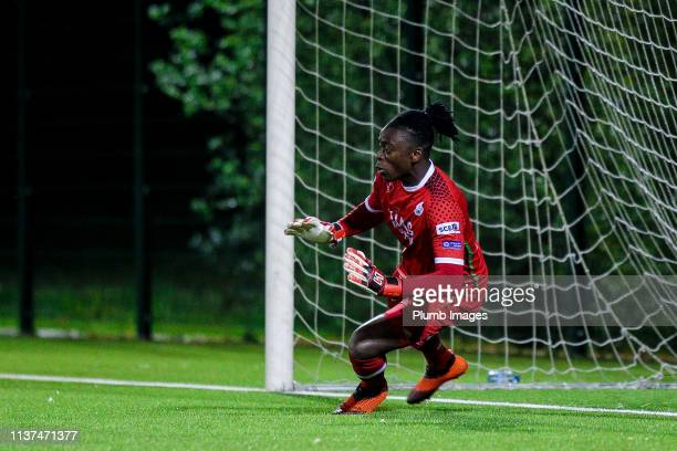 Maxime Amenga of OH Leuven during the Reserve Pro League Cup match between OH Leuven Beloften and RSC Anderlecht Reserve at the Neerpede training...