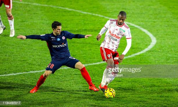 Maxime Barthelme of Chateauroux during the Ligue 2 match between AC Ajaccio and Chateauroux at Stade Francois Coty on March 29 2019 in Ajaccio France
