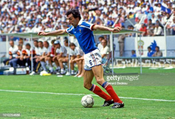 Maxime Bossis of France during the World Cup semi final match between West Germany FRG and France played in Guadalajara Mexico on june 25th 1986
