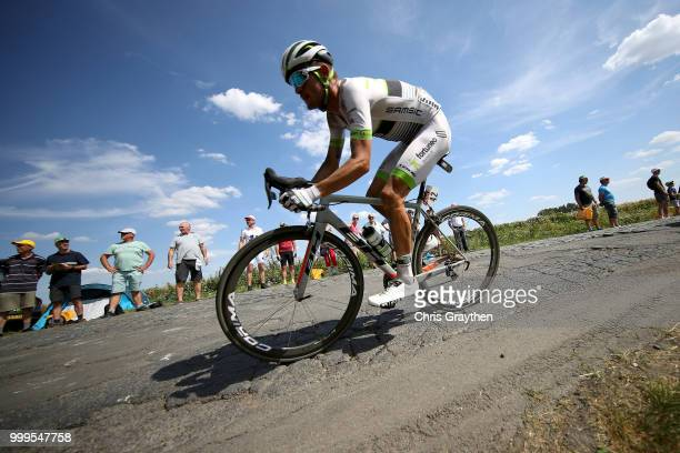 Maxime Bouet of France and Team Fortuneo Samsic / Willems À Hem Cobbles Sector 1 / Pave / Fans / Public / during the 105th Tour de France 2018 Stage...