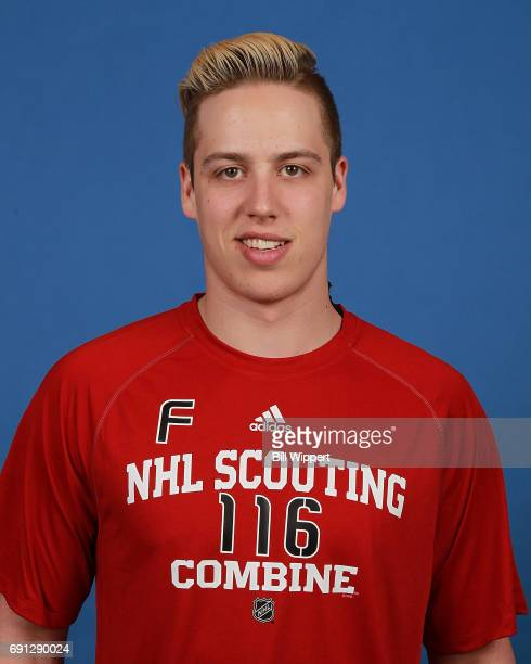 Maxime Comtois poses for a headshot at the NHL Combine at HarborCenter on June 1 2017 in Buffalo New York
