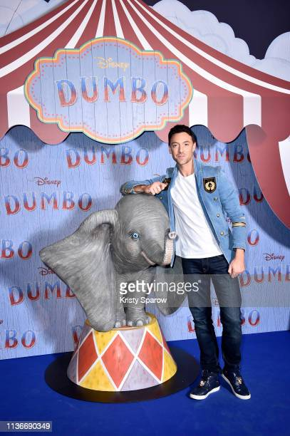 """Maxime Dereymez attends the """"Dumbo"""" Paris Gala Screening at Cinema Le Grand Rex on March 18, 2019 in Paris, France."""