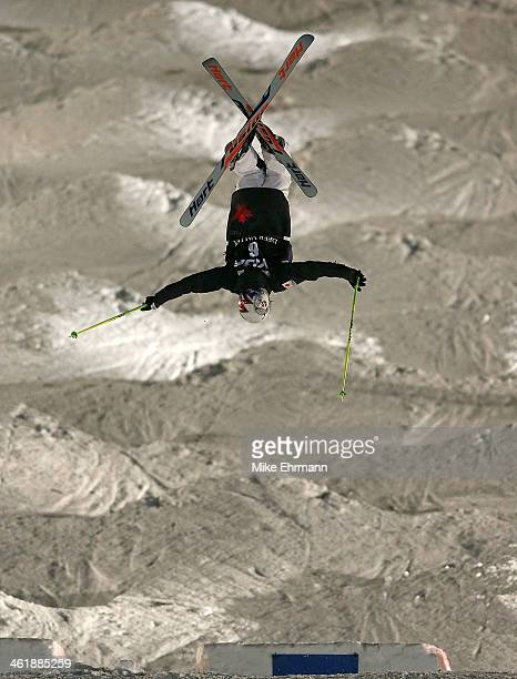 Maxime DufourLapointe of Canada competes during finals for the Womens 2014 FIS Freestyle Ski World Cup Mogul Competition at Deer Valley on January 11...