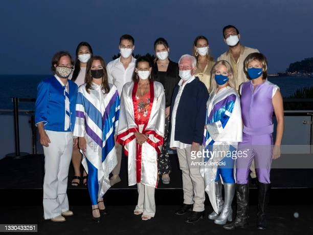 Maxime Giaccardi, Pauline Ducruet, Princess Stephanie of Monaco, Camille Gottlieb, Louis Ducruet, Marie Chevallier and the band 'ABBA' attends the...