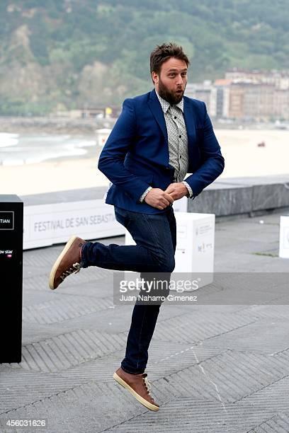 Maxime Giroux attends 'Felix Eta Meira / Feix and Meira' photocall during 62nd San Sebastian International Film Festival at the Kursaal Palace on...