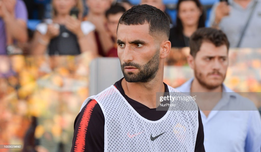 Maxime Gonalons during the Pre-Season Friendly match between AS Roma and Avellino at Stadio Benito Stirpe on July 20, 2018 in Frosinone, Italy.