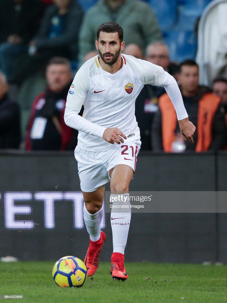Maxime Gonalons of AS Roma during the Italian Serie A match between Genoa v AS Roma at the Stadio Luigi Ferraris on November 26, 2017 in Rome Italy