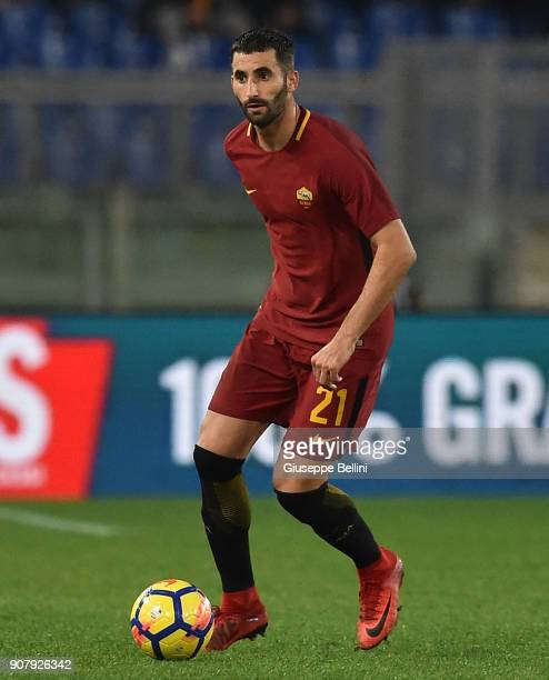 Maxime Gonalons of AS Roma in action during the serie A match between AS Roma and Atalanta BC at Stadio Olimpico on January 6 2018 in Rome Italy