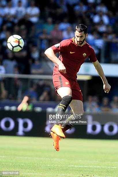 Maxime Gonalons of AS Roma in action during the serie A match between Spal and AS Roma at Stadio Paolo Mazza on April 21 2018 in Ferrara Italy