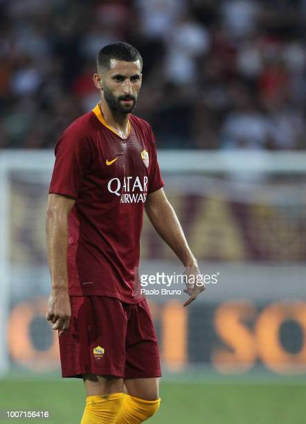 Maxime Gonalons of AS Roma looks on during the PreSeason Friendly match between AS Roma and Avellino at Stadio Benito Stirpe on July 20 2018 in...