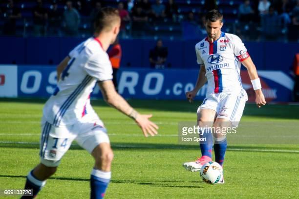 Maxime Gonalons of Lyon during the Ligue 1 match between SC Bastia and Olympique Lyonnais Lyon at Stade Armand Cesari on April 16 2017 in Bastia...