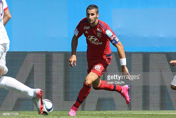 Maxime Gonalons of Lyon in action during the 2015 Trophee des Champions between Paris SaintGermain and Olympique Lyonnais at Stade Saputo on August 1...