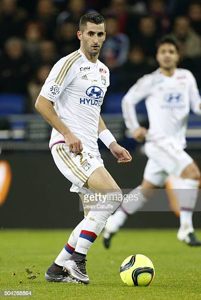 Maxime Gonalons of Lyon in action during the French Ligue 1 match between Olympique Lyonnais and Troyes ESTAC at their brand new stadium Parc...