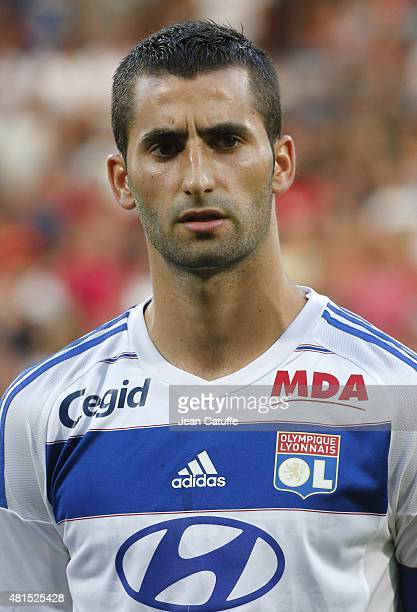 Maxime Gonalons of Lyon looks on before the friendly match between Olympique Lyonnais and AC Milan at Stade de Gerland on July 18 2015 in Lyon France