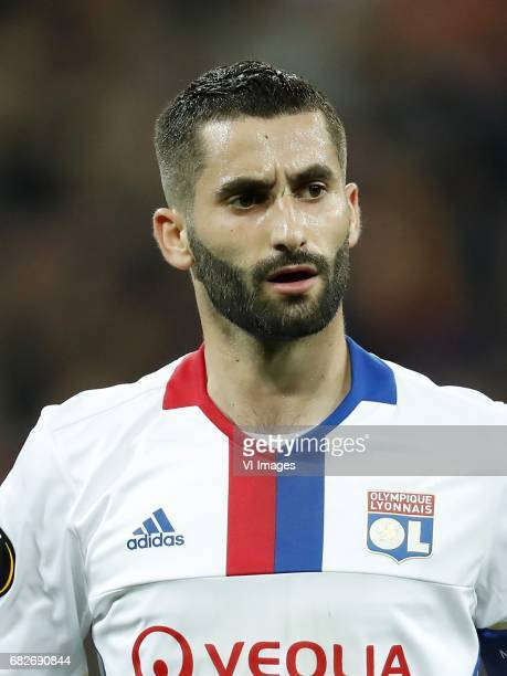 Maxime Gonalons of Olympique Lyonnaisduring the UEFA Europa League semi final match between Olympique Lyonnais and Ajax Amsterdam at Stade de Lyon on...