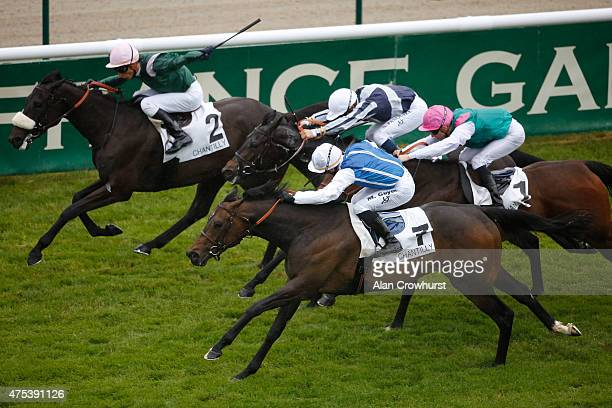 Maxime Guyon riding Impassable win The Prix Du Sandrigham at Chantilly racecourse on May 31 2015 in Chantilly France